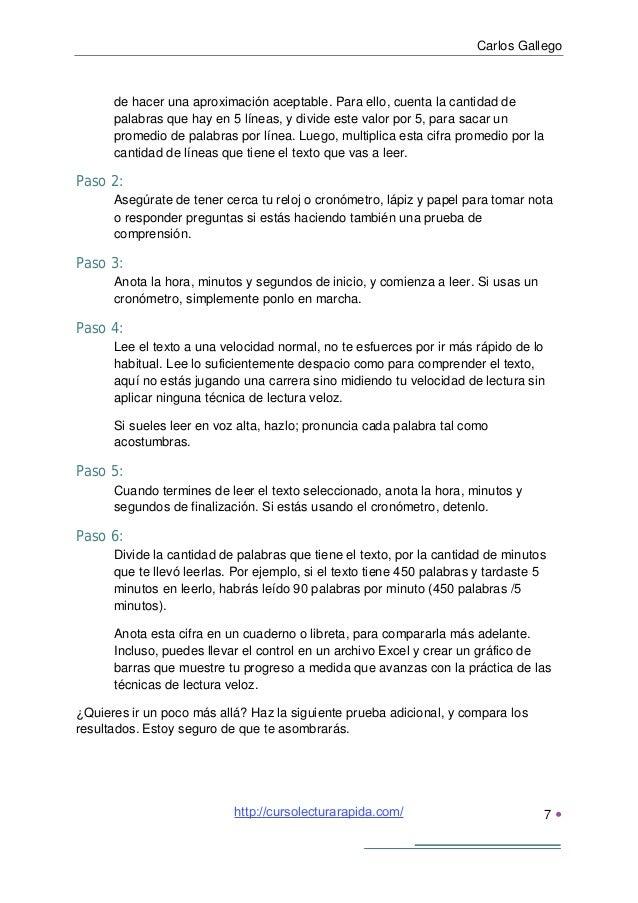 Carlos Gallego8 Importante:Antes de comenzar, concéntrate en aplicar estas reglas, tendrás que hacer unesfuerzo conscient...