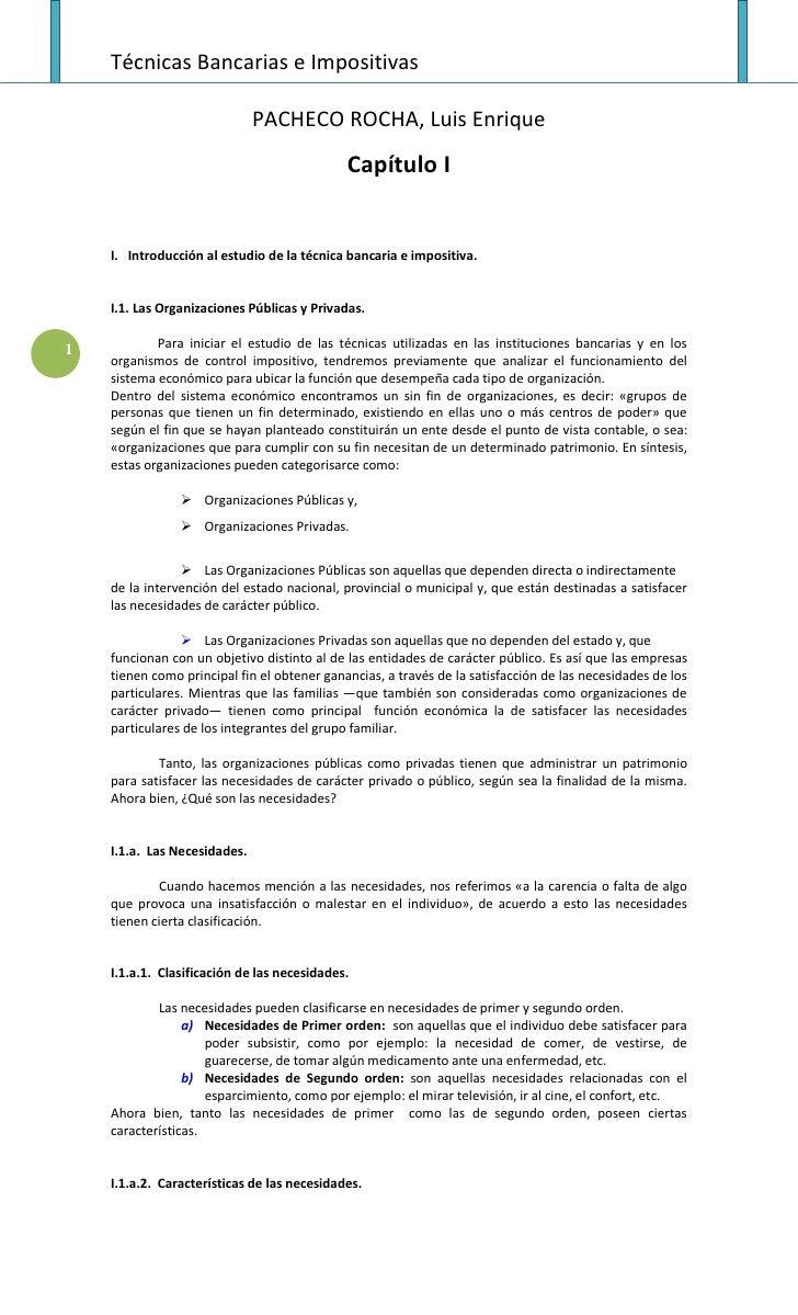 Técnicas Bancarias e Impositivas                                PACHECO ROCHA, Luis Enrique                               ...