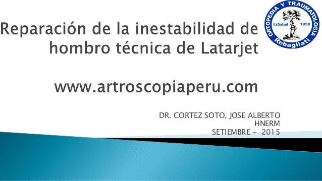 DR. CORTEZ SOTO, JOSE ALBERTO HNERM SETIEMBRE - 2015