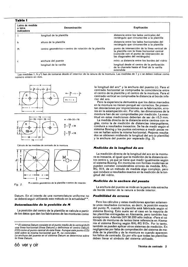 Tecnica del cetrado de una lente