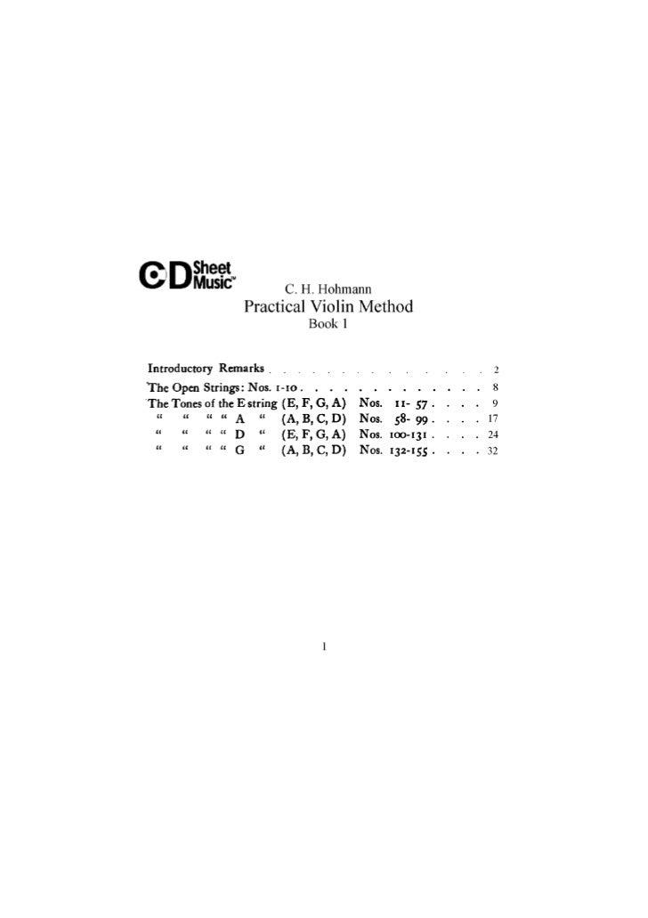 Tecnica pr violino livro i   c.h. hohmann (www.sheetmusic-violin.blogspot.com)
