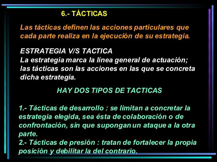 TECNICAS DE NEGOCIACION