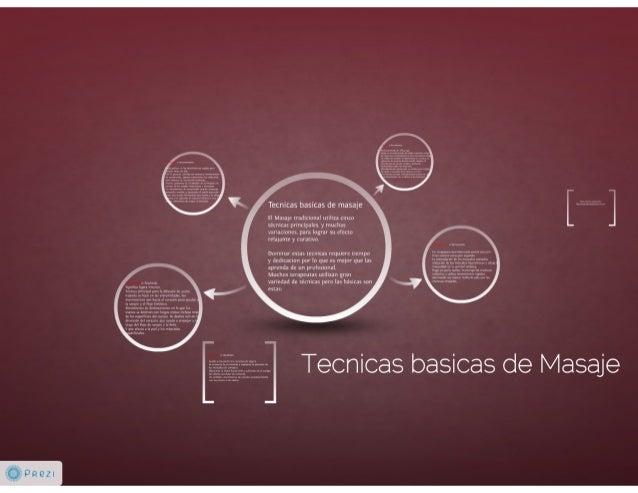 Tecnicas basicas de masaje Slide 2