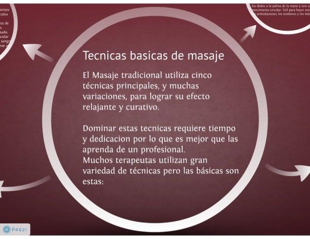 Tecnicas basicas de masaje Slide 3