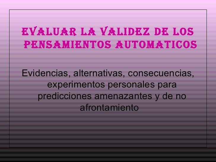 Tecnicas cognitivas Slide 3