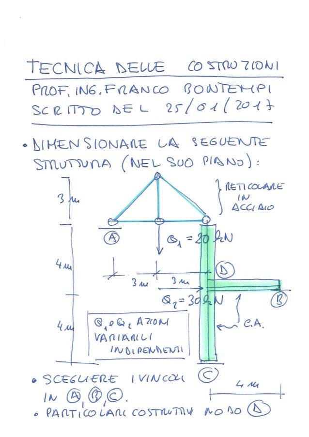 Tecnica delle Costruzioni - Scritto 25 gennaio 2017