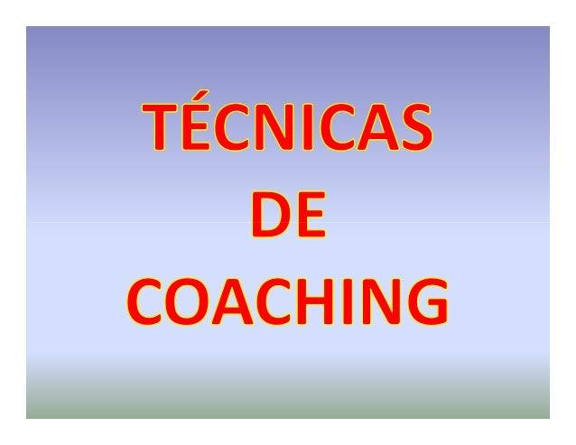 tecnicas de coaching