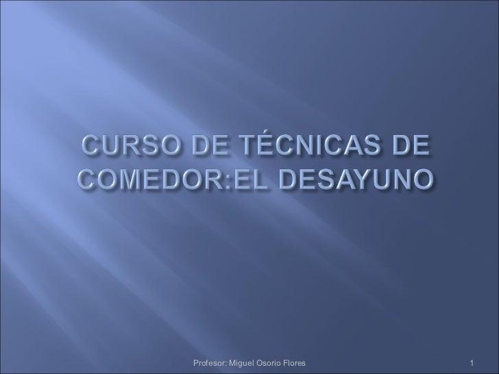 Profesor: Miguel Osorio Flores