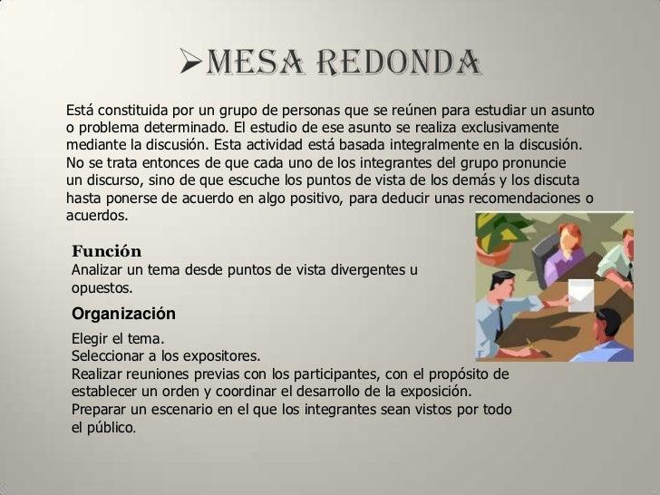 Tecnicas de comunicacion grupal - Que es mesa redonda ...