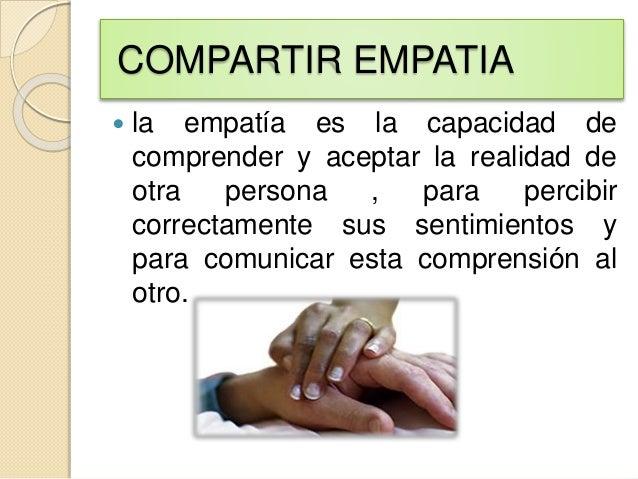 que es empatía en enfermeria