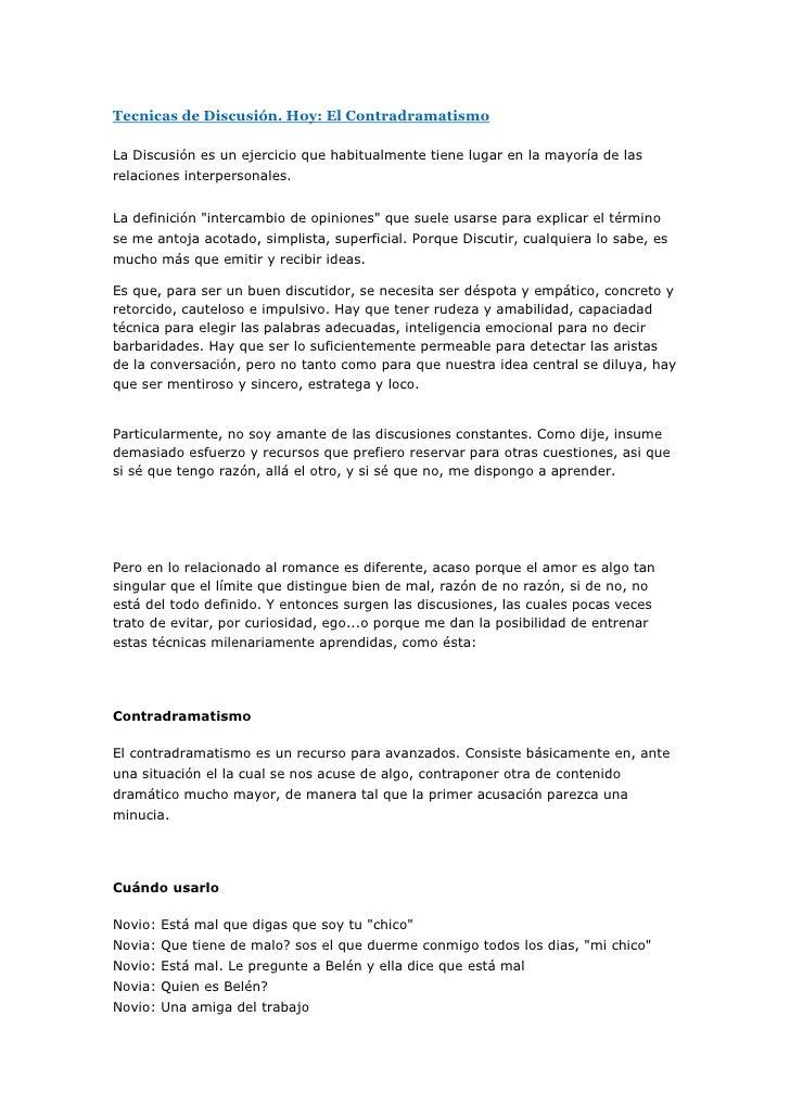 """HYPERLINK """" http://gelatinareal.blogspot.com/2007/10/tecnicas-de-discusin-hoy-el.html""""  Tecnicas de Discusión. Hoy: El Co..."""