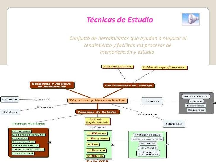 Técnicas de Estudio<br />Conjunto de herramientas que ayudan a mejorar el rendimiento y facilitan los procesos de memoriza...