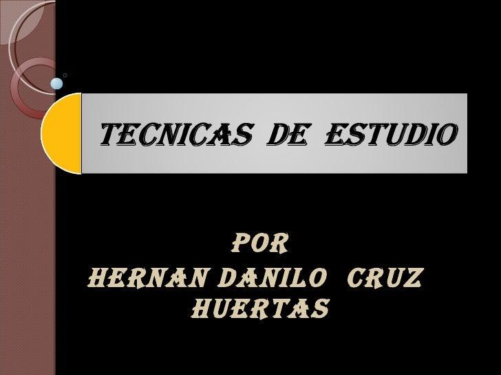 POR HERNAN DANILO  CRUZ  HUERTAS