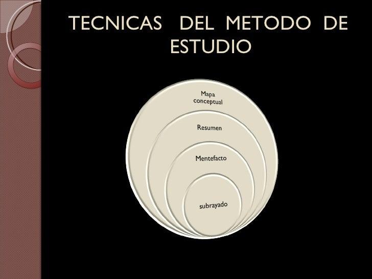TECNICAS  DEL  METODO  DE  ESTUDIO