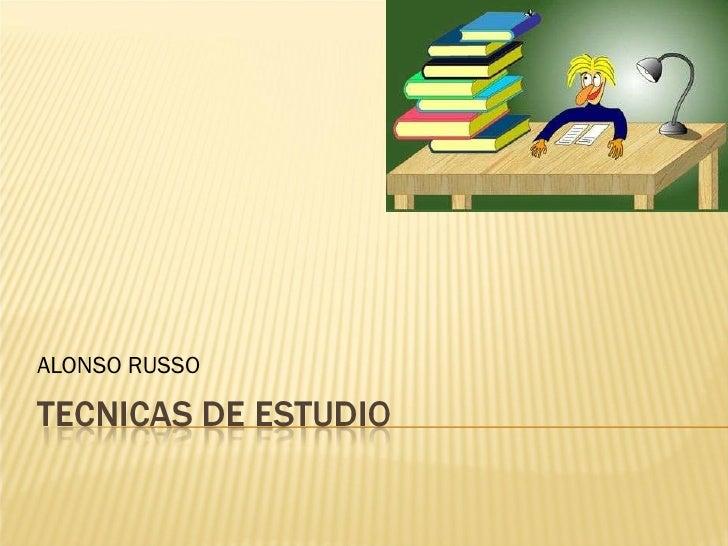 Tecnicas de estudio(expo)