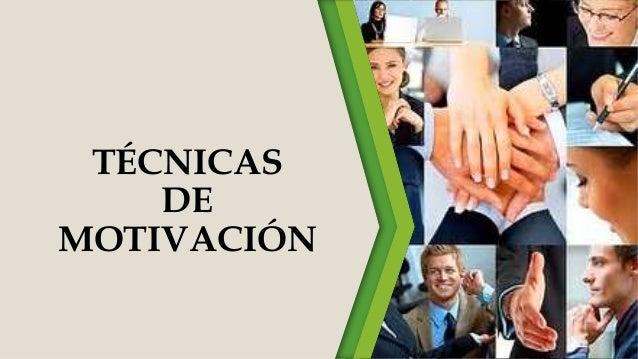 Tecnicas de motivacion for Tecnicas de representacion arquitectonica pdf