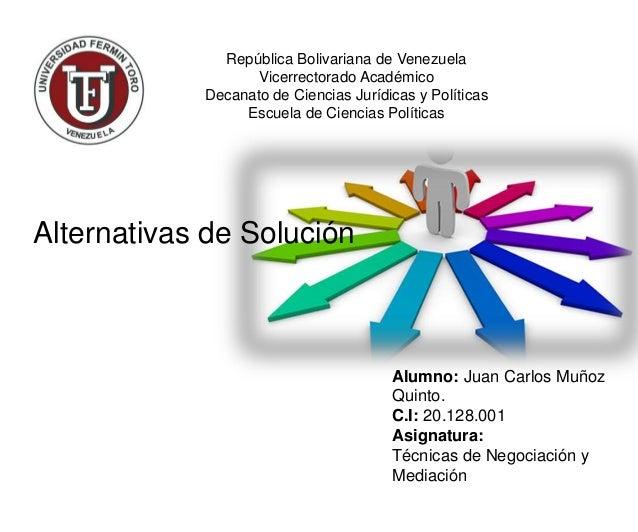 República Bolivariana de Venezuela Vicerrectorado Académico Decanato de Ciencias Jurídicas y Políticas Escuela de Ciencias...