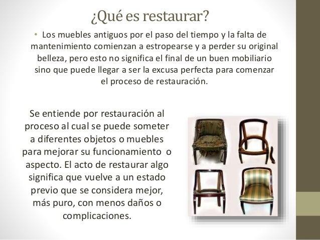 Tecnicas de restauracion 1 - Tecnicas de restauracion de muebles ...