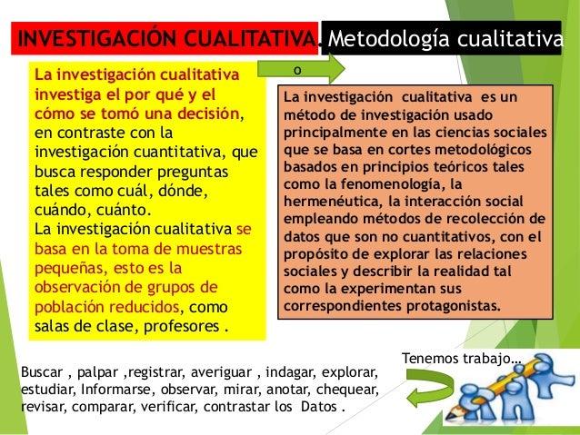 Tecnicas E Instrumentos De Investigacion Cualitativa
