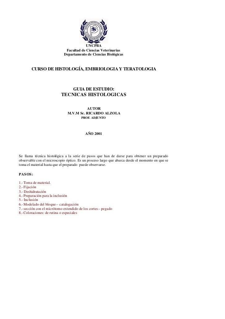 UNCPBA                              Facultad de Ciencias Veterinarias                             Departamento de Ciencias...