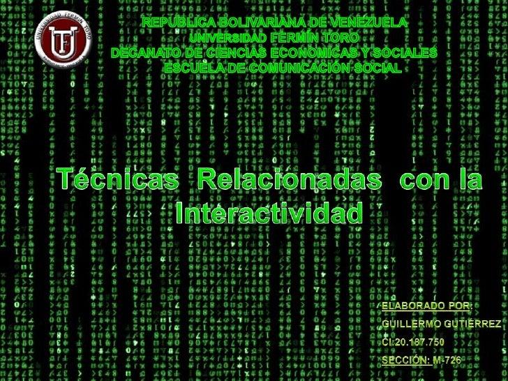 REPUBLICA BOLIVARIANA DE VENEZUELA <br />UNIVERSIDAD FERMÍN TORO<br />DECANATO DE CIENCIAS ECONOMICAS Y SOCIALES <br />   ...