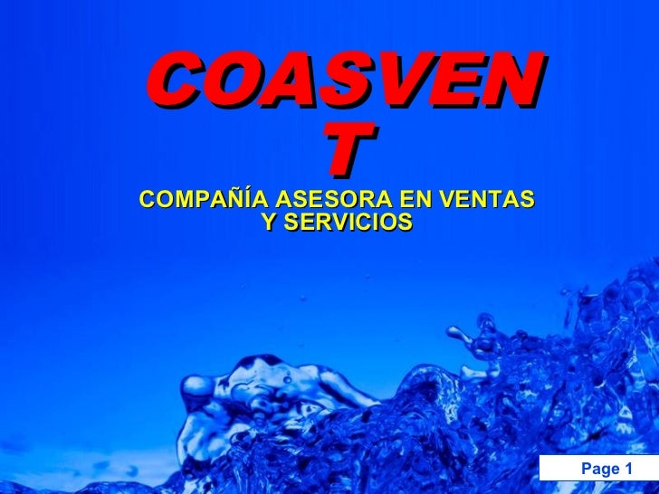 COASVEN   TCOMPAÑÍA ASESORA EN VENTAS        Y SERVICIOS                                         Page 1