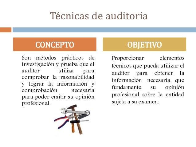Técnicas y procedimientos de Auditoria Slide 2
