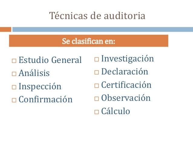Técnicas y procedimientos de Auditoria Slide 3