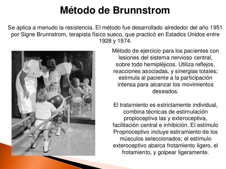 Método de BrunnstromSe aplica a menudo la resistencia. El método fue desarrollado alrededor del año 1951 por Signe Brunnst...