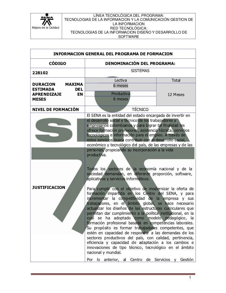 LÍNEA TECNOLÓGICA DEL PROGRAMA:                       TECNOLOGIAS DE LA INFORMACION Y LA COMUNICACIÓN GESTION DE          ...
