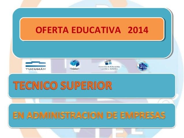 OFERTA EDUCATIVA 2014 OFERTA EDUCATIVA 2014