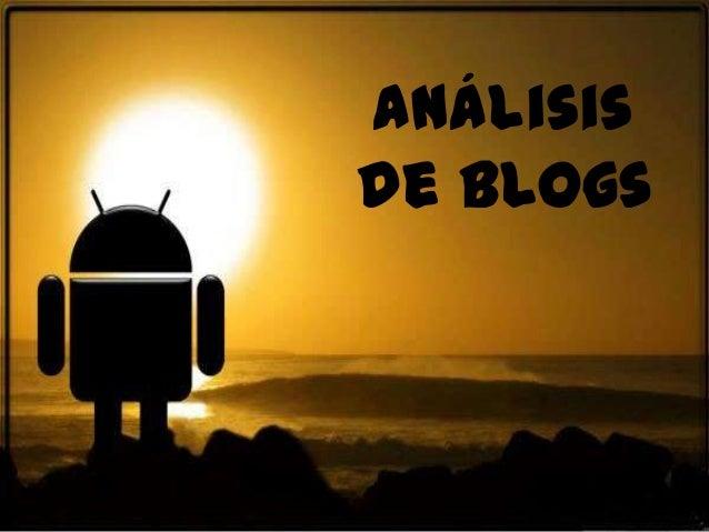 Análisisde blogs