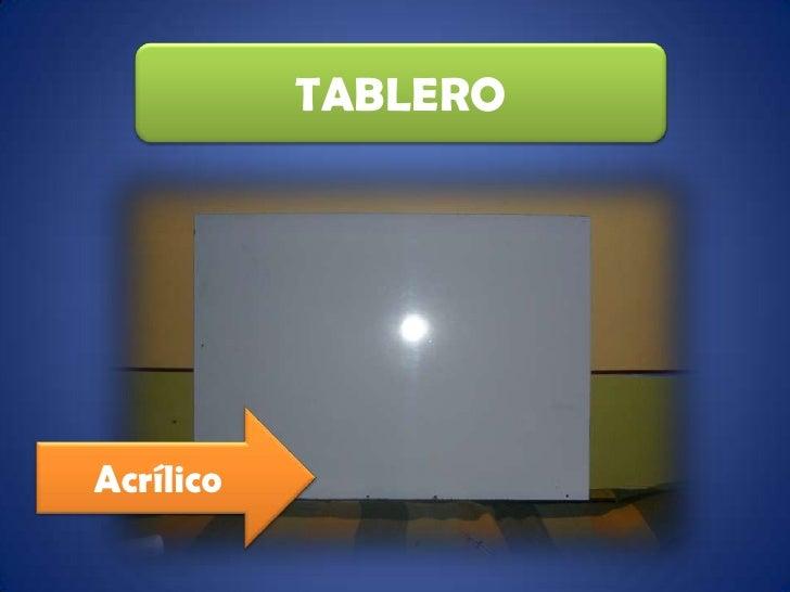TABLERO<br />Acrílico<br />