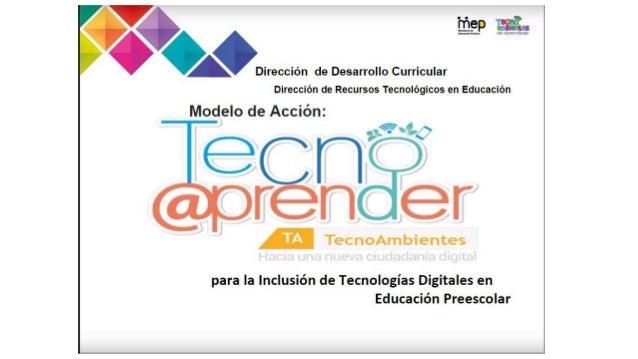 En la Dirección Regional de Educación de Cartago cuenta con 5 instituciones bajo el modelo Tecno@ambientes. La Dirección d...