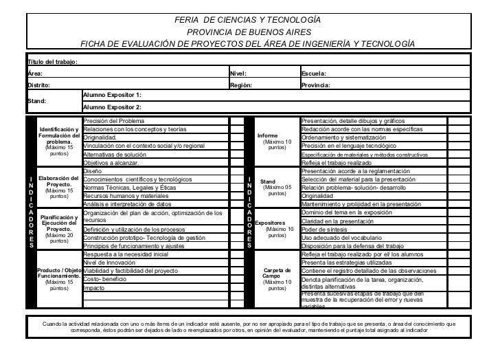 FERIA DE CIENCIAS Y TECNOLOGÍA                                             PROVINCIA DE BUENOS AIRES                      ...