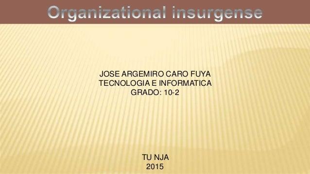 JOSE ARGEMIRO CARO FUYA TECNOLOGIA E INFORMATICA GRADO: 10-2 TU NJA 2015