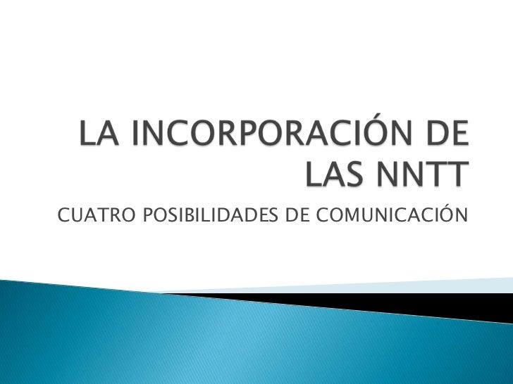 CUATRO POSIBILIDADES DE COMUNICACIÓN
