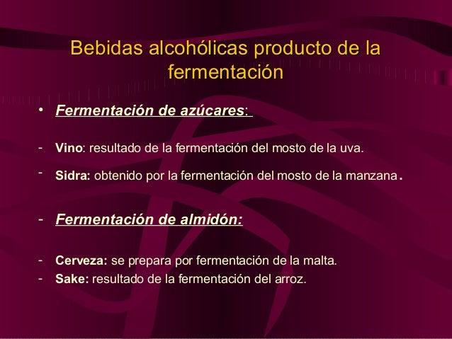 Bebidas Alcohólicas Destiladas • Brandy/ Coñac: Es obtenido de la destilación del vino. • Ron: obtenido del fermentado de ...