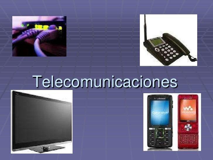 Telecomunicaciones<br />
