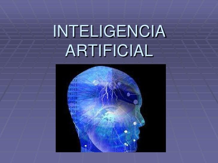 INTELIGENCIA ARTIFICIAL<br />