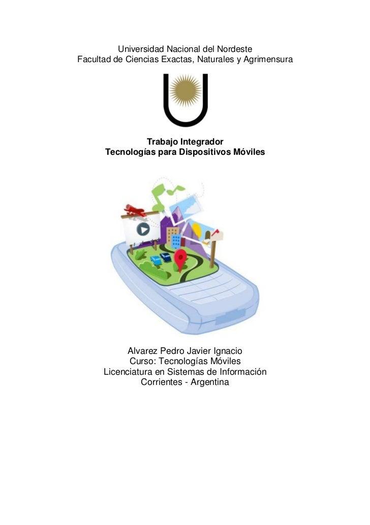 Universidad Nacional del NordesteFacultad de Ciencias Exactas, Naturales y Agrimensura               Trabajo Integrador   ...