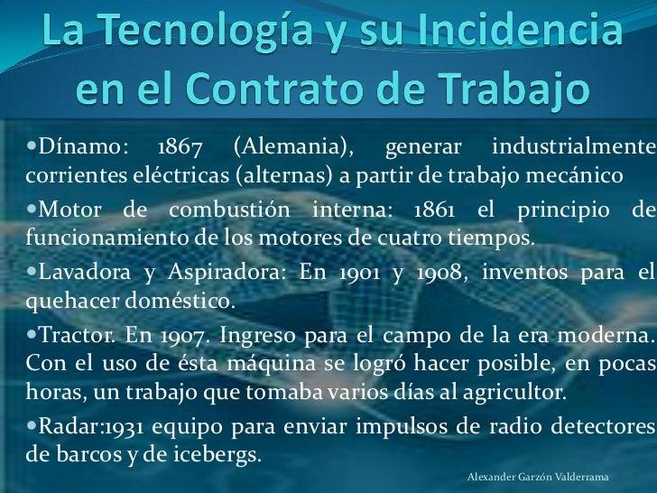 La Tecnolog A Y El Paradigma Del Contrato De Trabajo