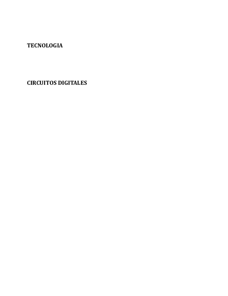 TECNOLOGIACIRCUITOS DIGITALES
