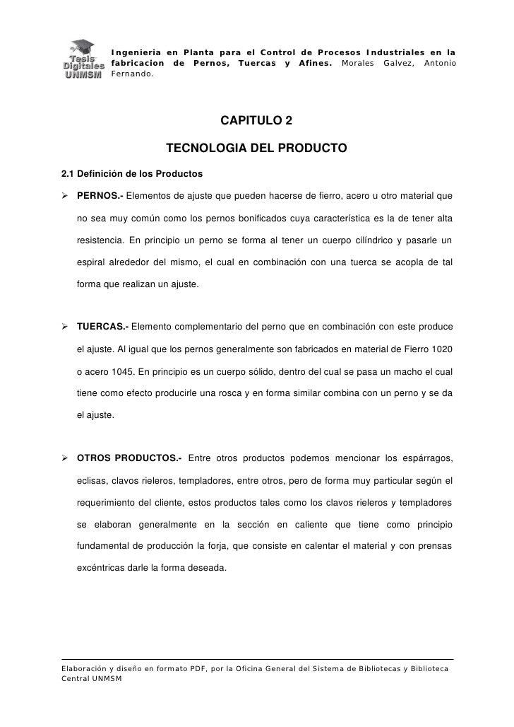 Ingenieria en Planta para el Control de Procesos Industriales en la            fabricacion de Pernos, Tuercas y Afines. Mo...