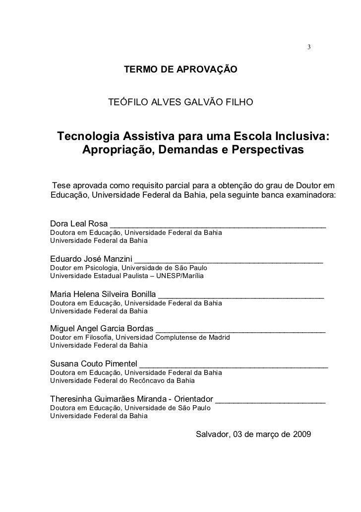 Tecnologia Assistiva   EducaçãO Inclusiva Slide 3