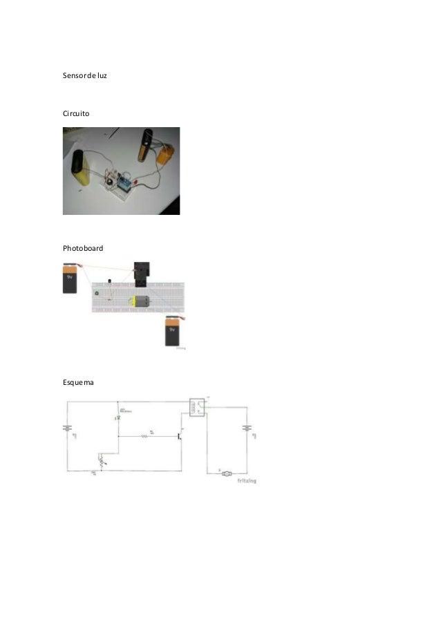 Sensorde luz Circuito Photoboard Esquema