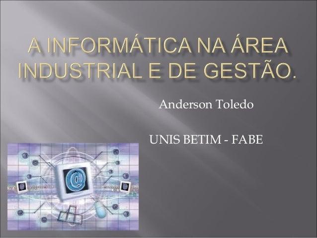 Anderson Toledo UNIS BETIM - FABE