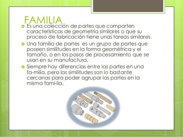 Una familia de productos y subfamilias con características internassimilares.