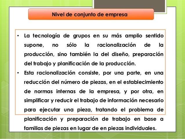Beneficios y Problemas en laTecnología de Grupos