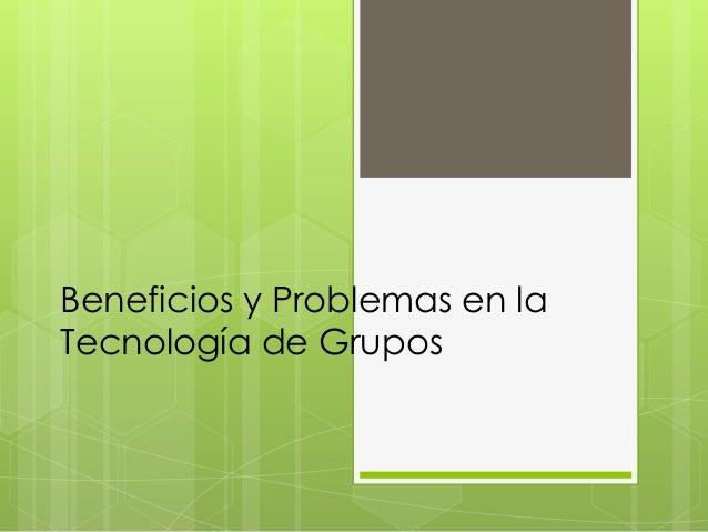 Tecnologia de grupos a presentar